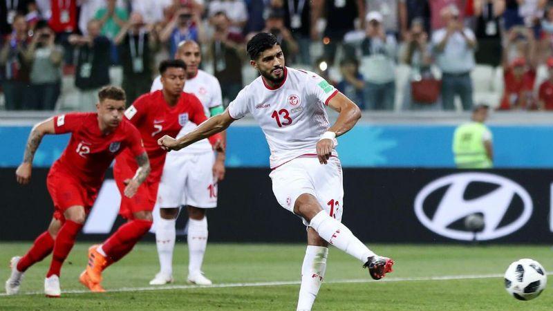 Тунис в матче с Англией