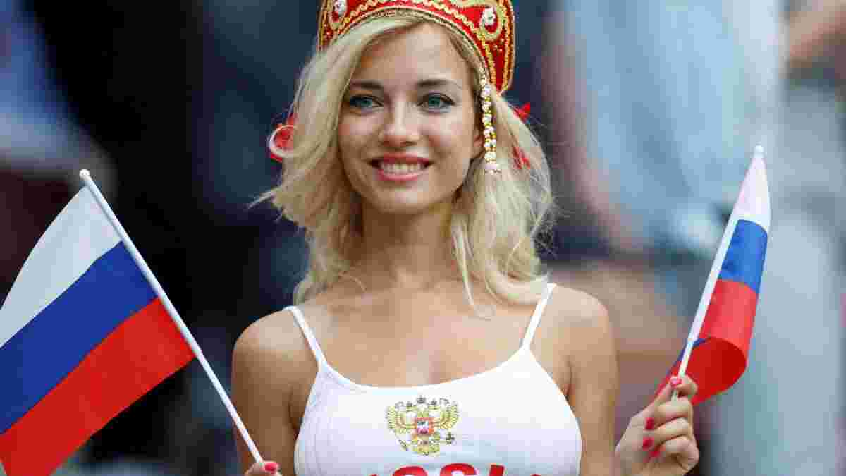 Самой красивой фанаткой сборной России признали порноактрису: фото 18+