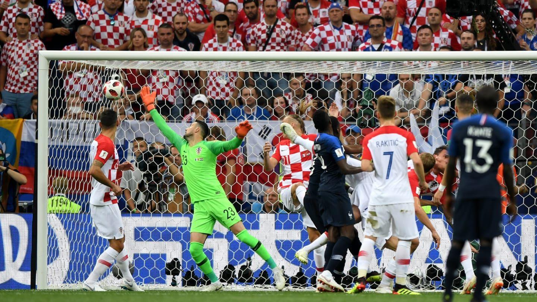 Футбол франция хорватия видео