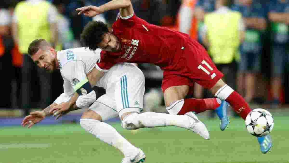 Видео дня: первая встреча Рамоса и Салаха после инцидента в киевском финале Лиги чемпионов