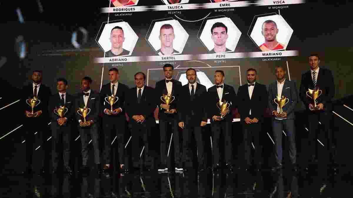 Турецкая Суперлига наградила лучших в прошлом сезоне: Пепе, Муслера и Куарежма среди номинантов