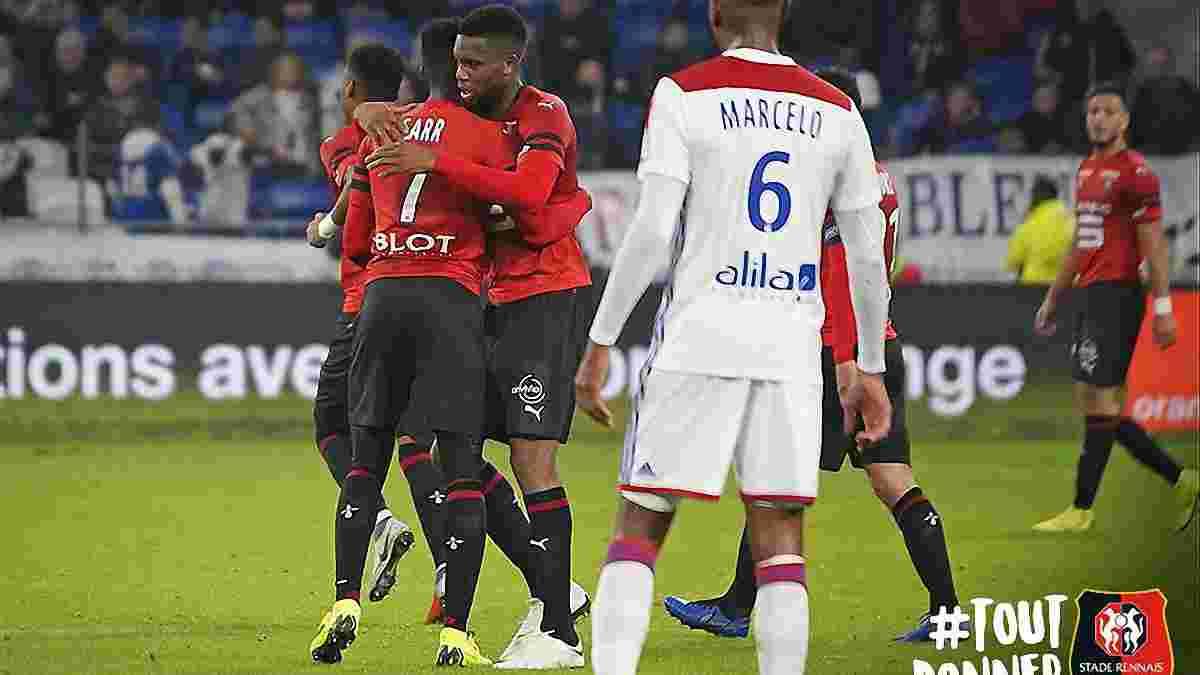 Ліон – Ренн – 0:2 – відео голів та огляд матчу