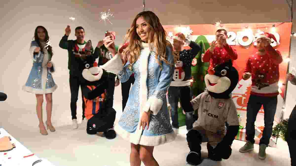 Шахтер снял новогодний ролик с Мисс Украина-2017