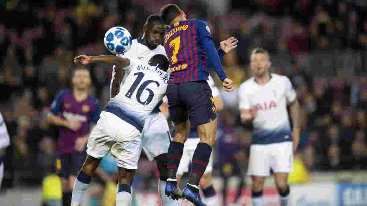 Лига чемпионов: Тоттенхэм в матче с Барселоной вырвался в плей-офф, Интер потерпел фиаско с ПСВ и покинул турнир