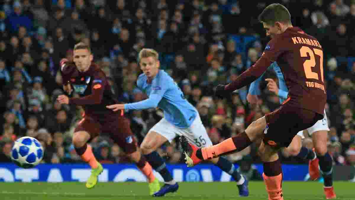 Манчестер Сити с Зинченко в составе одержал волевую победу над Хоффенхаймом благодаря дублю Сане