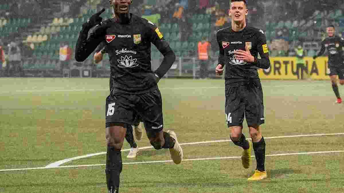 Потенциальный новичок Динамо Байо забил лучший гол месяца в чемпионате Словакии