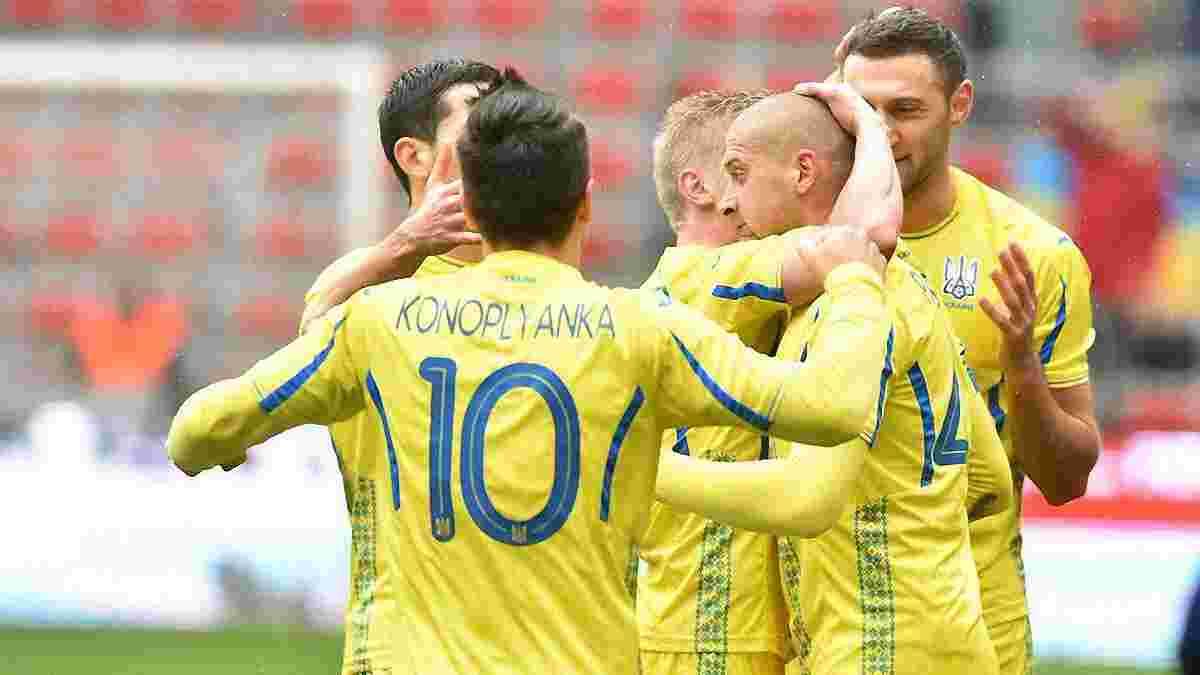 Украина сохранила свое место в обновленном рейтинге ФИФА