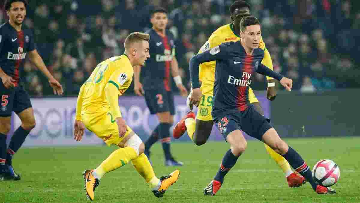Лига 1: ПСЖ минимально победил Нант и закрепил лидерство, претенденты на медали потеряли очки, Монако снова проиграл