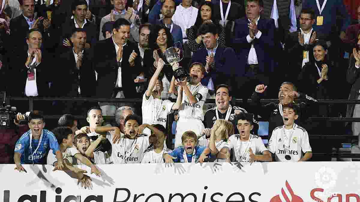 """Голкипер юношеской команды Реала выполнил сумасшедший двойной сейв в финале """"LaLiga Promises"""" против Интера"""