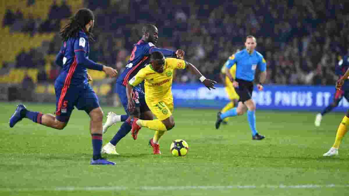 Сенсационное поражение Лиона Нанту – 2:1 – видео голов и обзор матча