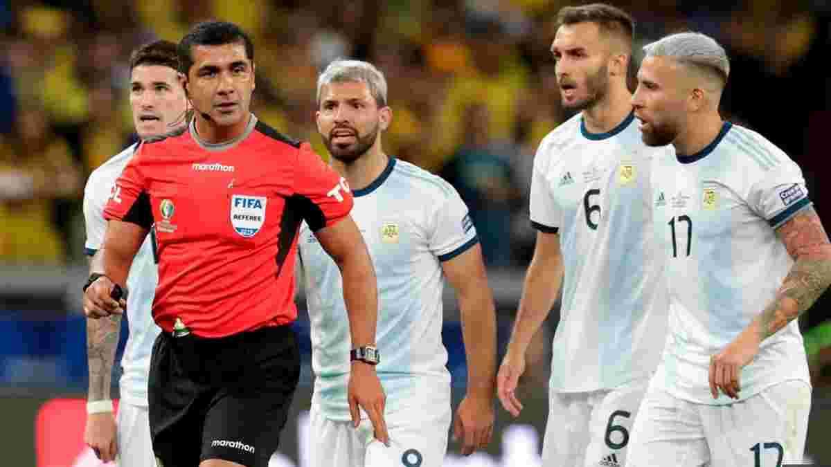 Аргентина поскаржилась у КОНМЕБОЛ на дії арбітра у матчі проти Бразилії