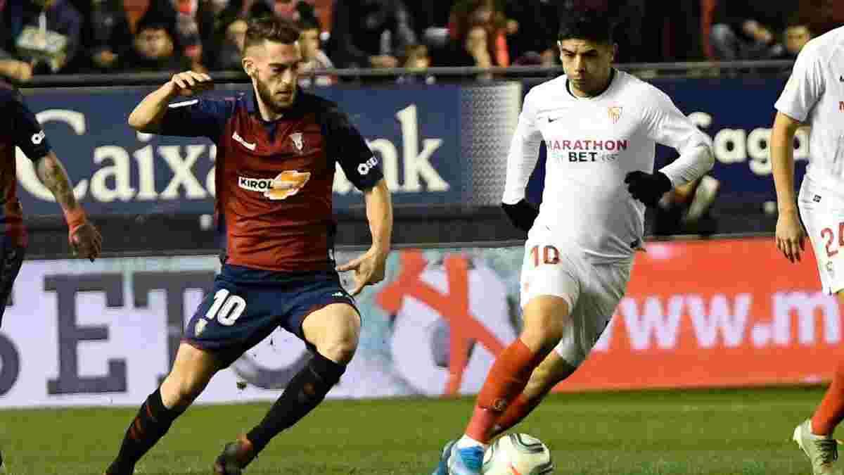 Осасуна розписала нічию із Севільєю, Вальядолід без Луніна вистояв проти Реал Сосьєдада: 16-й тур Прімери, неділя