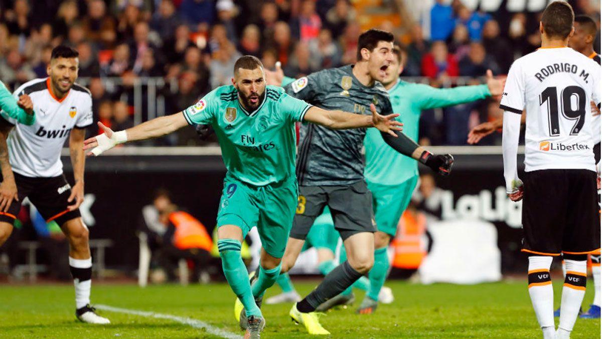 """Валенсия – Реал: хаос со справедливым счетом, Куртуа-спаситель, крутой Бензема и грозная форма """"бланкос"""" перед Классико"""