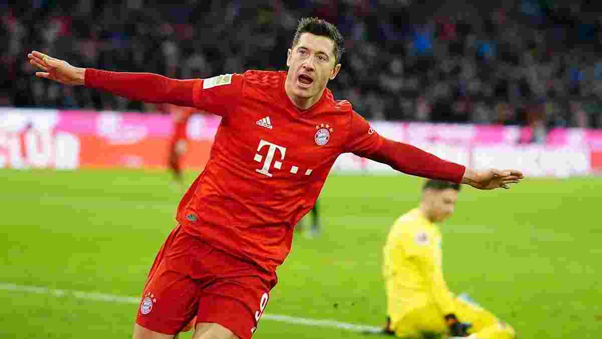 Лєвандовскі повторив досягнення Хайнкеса та піднявся у топ-3 бомбардирів Бундесліги всіх часів