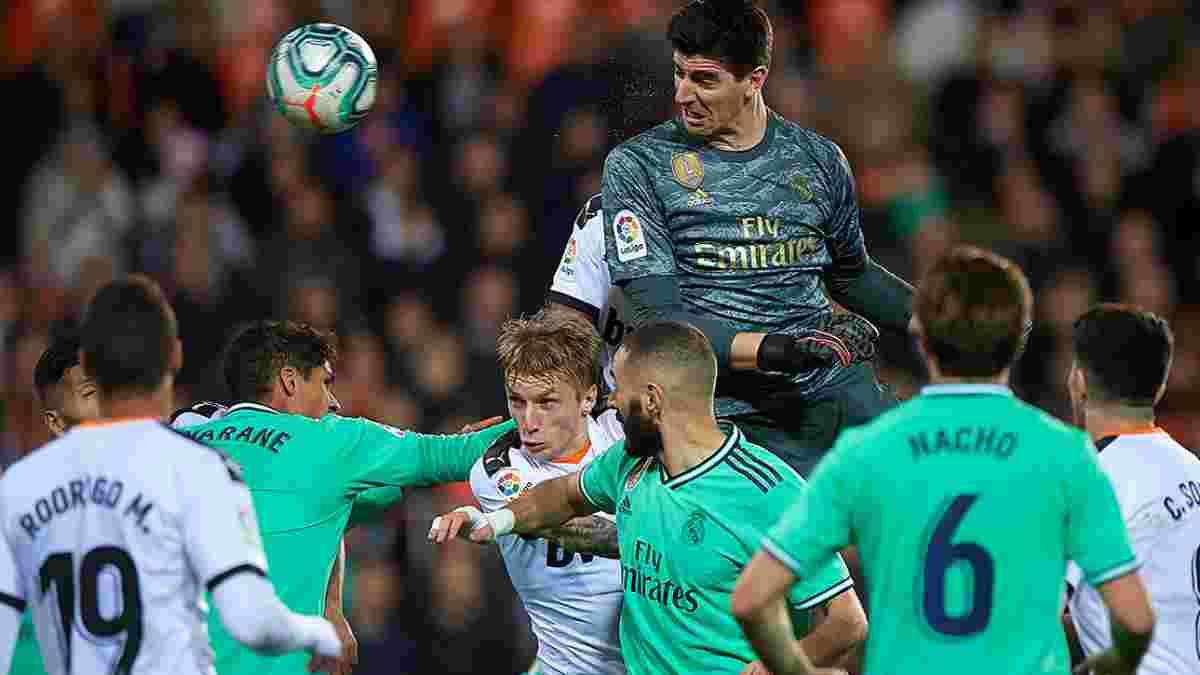 Героїчний похід Куртуа на кутовий, який врятував Реал, у відеоогляді матчу проти Валенсії