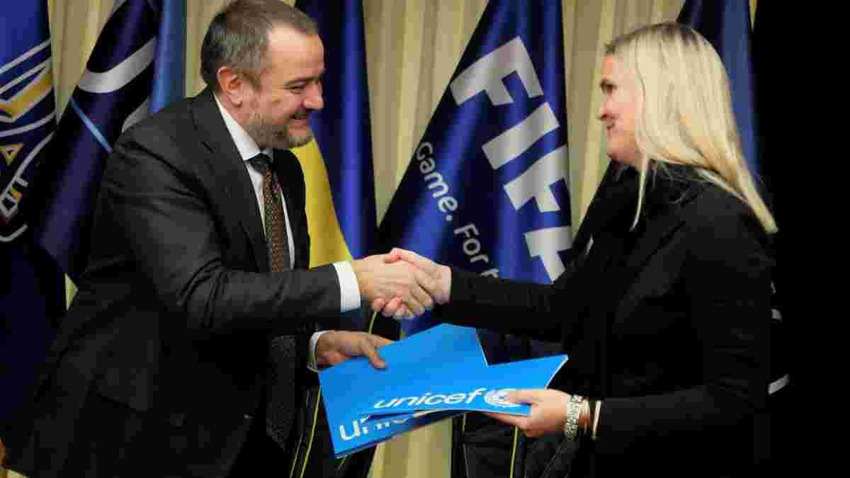 УАФ подписала новый меморандум о партнерстве с ЮНИСЕФ