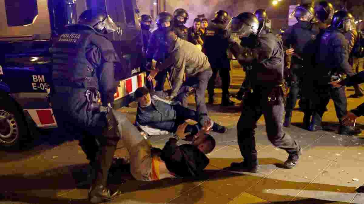 Барселона – Реал: понад 50 людей постраждало внаслідок заворушень біля Камп Ноу
