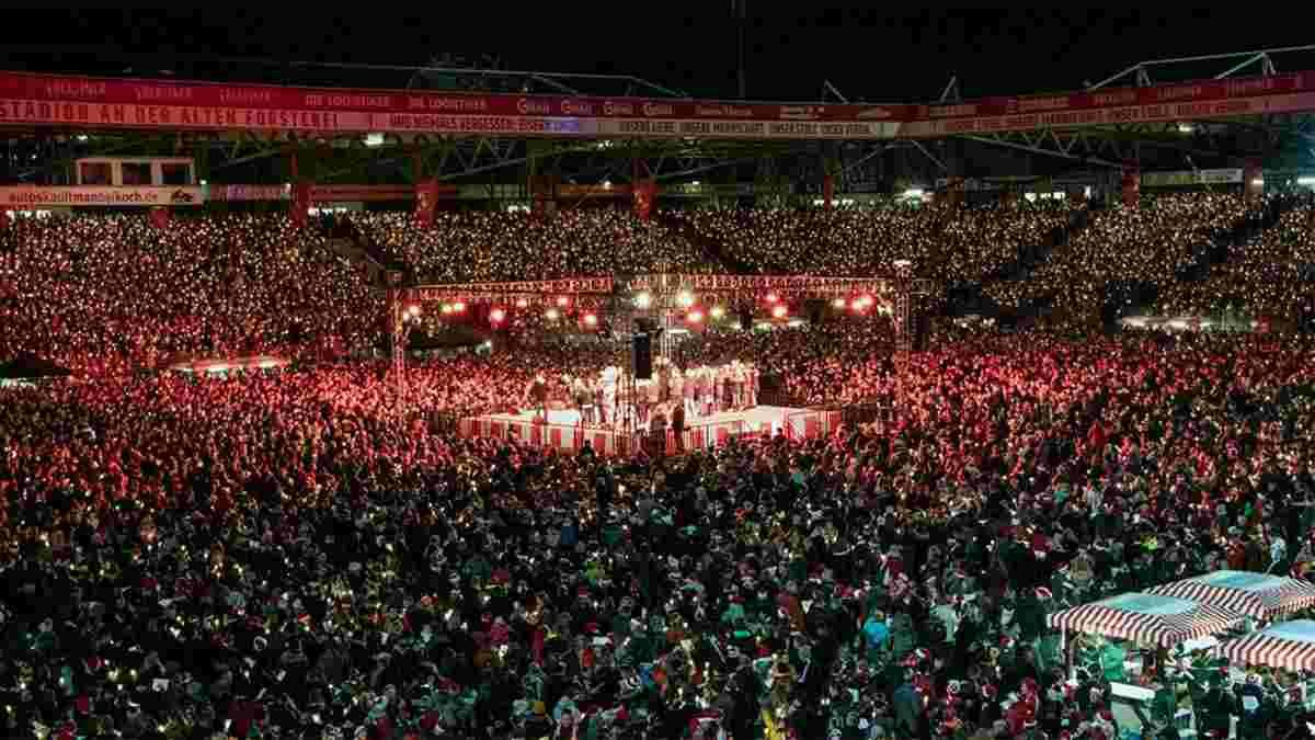 Фанаты Унион Берлин атмосферно встретили Рождество на стадионе