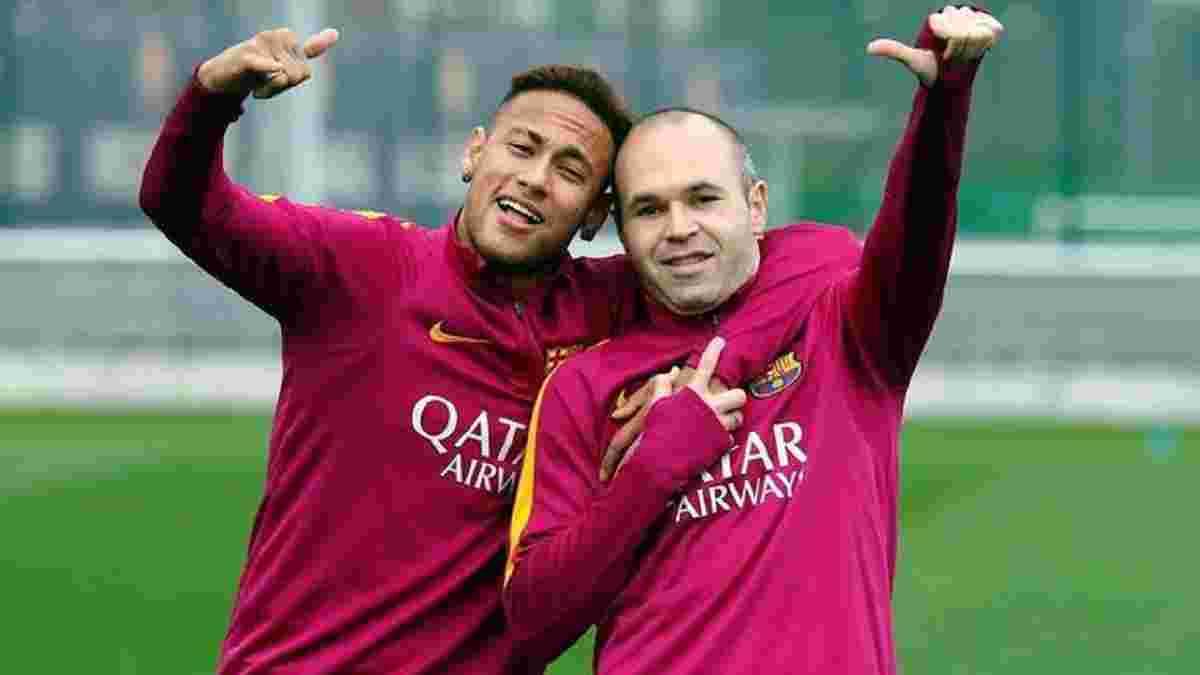 Іньєста: Неймар став би прекрасним трансфером для Барселони