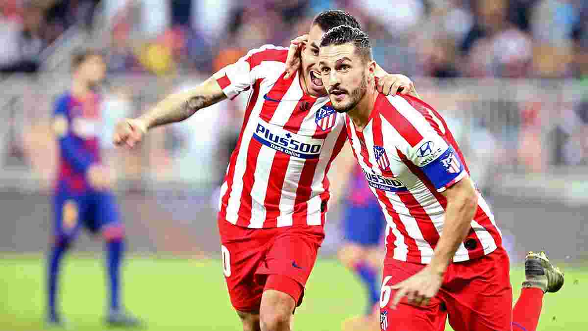 Атлетико впервые в эпоху Симеоне смог забить три гола Барселоне