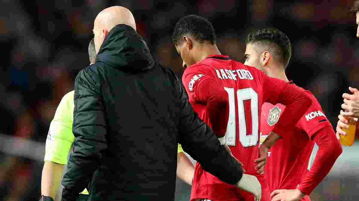 Манчестер Юнайтед рискует потерять Рашфорда на 3 месяца