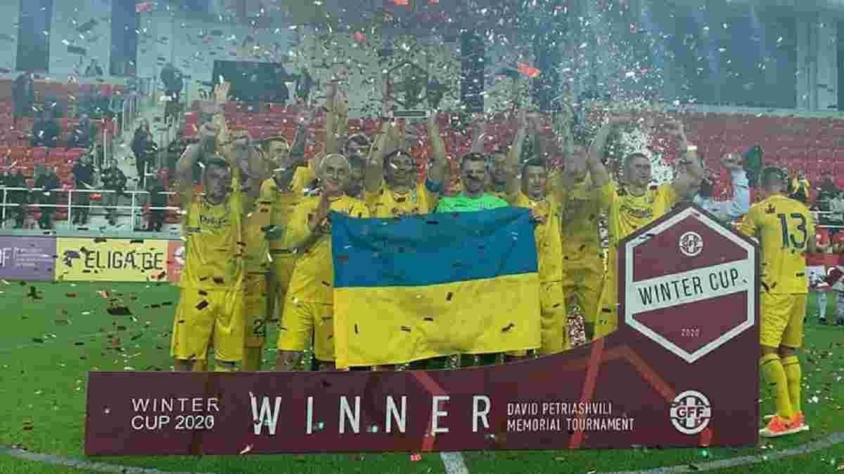 Сборная Украины среди ветеранов стала победителем Кубка легенд в Грузии