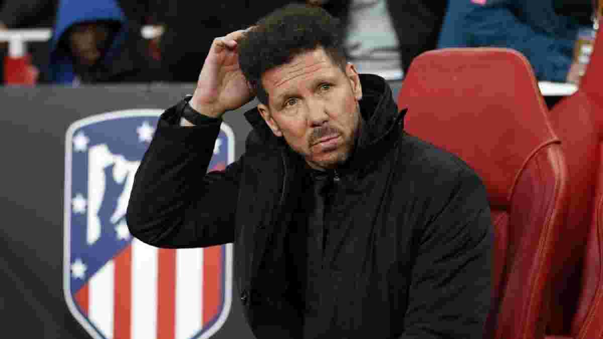 Симеоне взял на себя ответственность за позорный вылет Атлетико из Кубка Испании