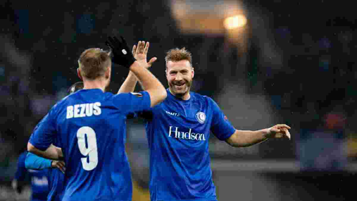 Безус забил победный гол за Гент в ворота Генка – команда украинцев преследует лидера