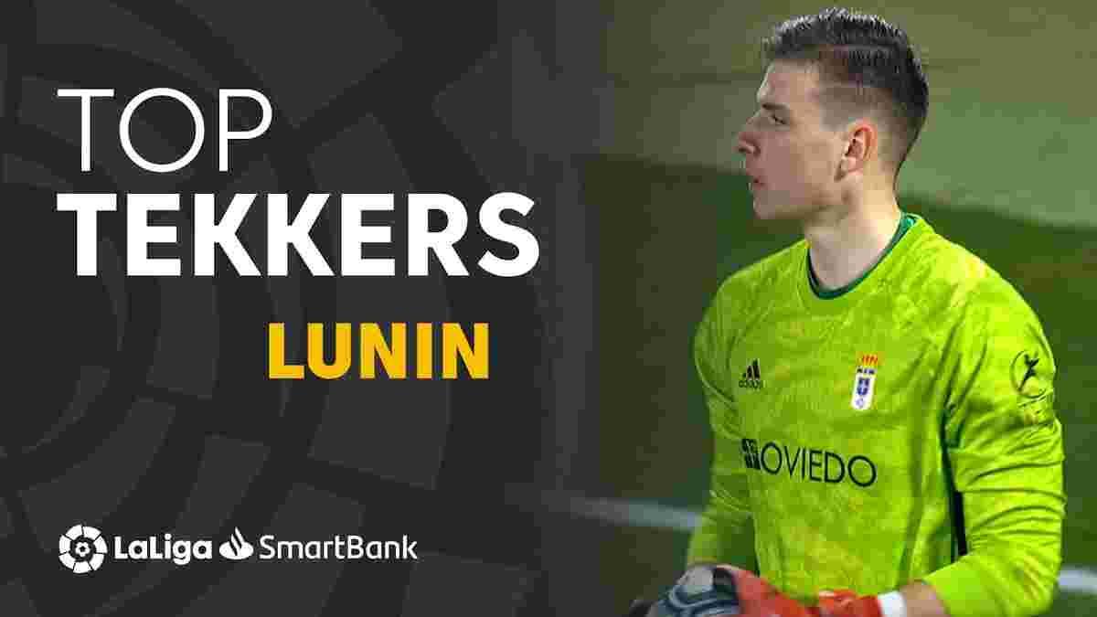 Лунін вражає іспанців топ-технікою: українець за кілька тижнів в Ов'єдо вже встиг отримати 2 визнання