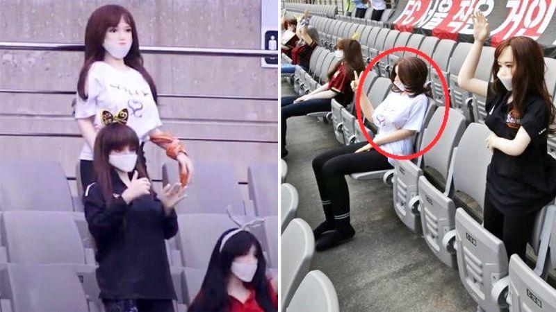 Секс-куклы вместо фанатов: корейский клуб оштрафовали за оригинальное заполнение трибун – фото