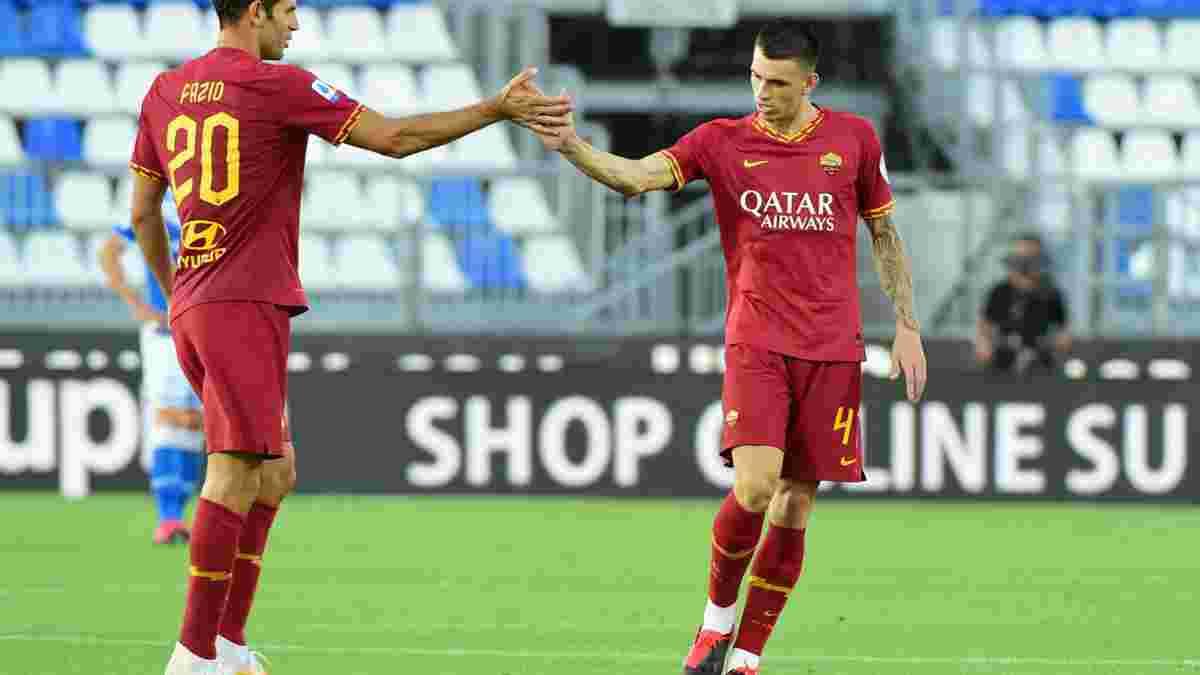 Рома розгромила Брешію, Лаціо зазнав третьої поразки поспіль, наблизивши Ювентус до чемпіонства