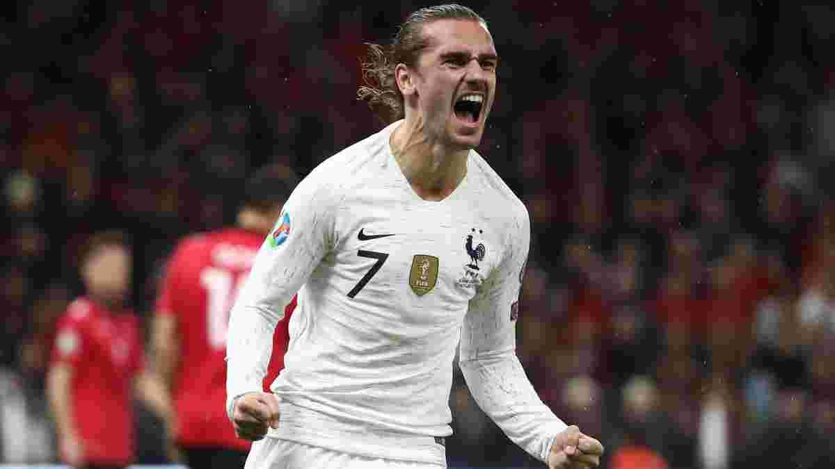 Грізманн зрівнявся із Зіданом за кількістю голів у складі збірної Франції
