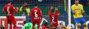 Герта сенсационно вылетела из Кубка Германии в сумасшедшем матче с 9 голами