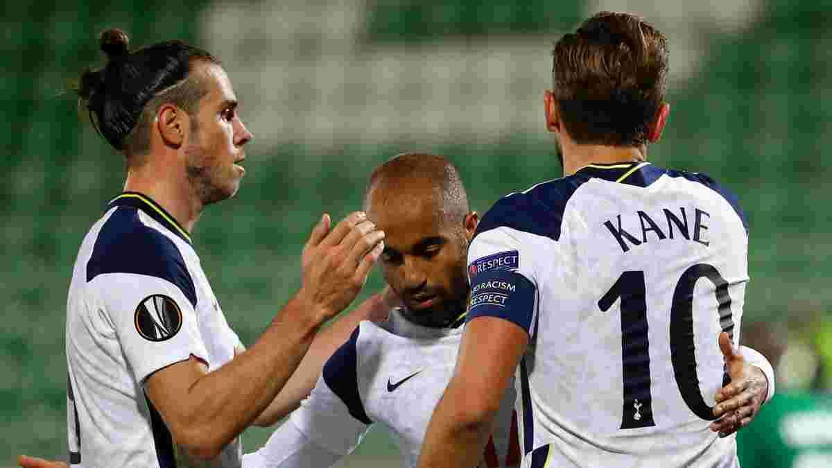 ЛЄ: Кейн відсвяткував подвійний ювілей перемогою Тоттенхема, форвард Шахтаря голом покарав Карабах, Наполі здолав Рієку