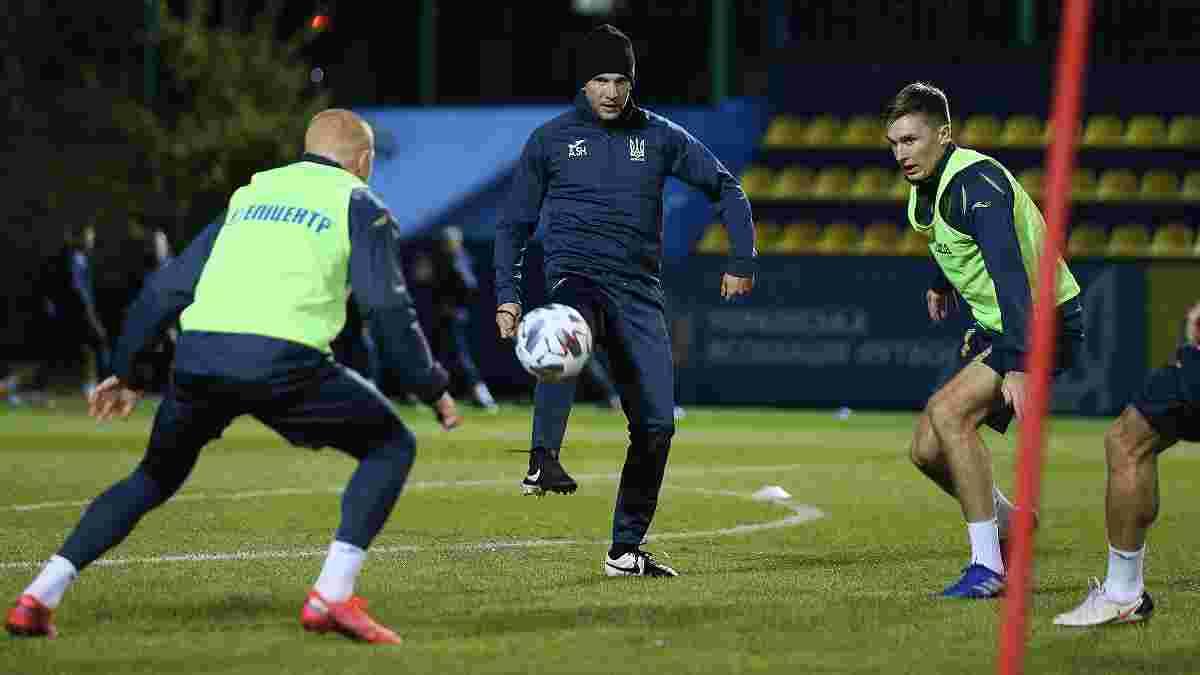 Усик посетил тренировку сборной Украины