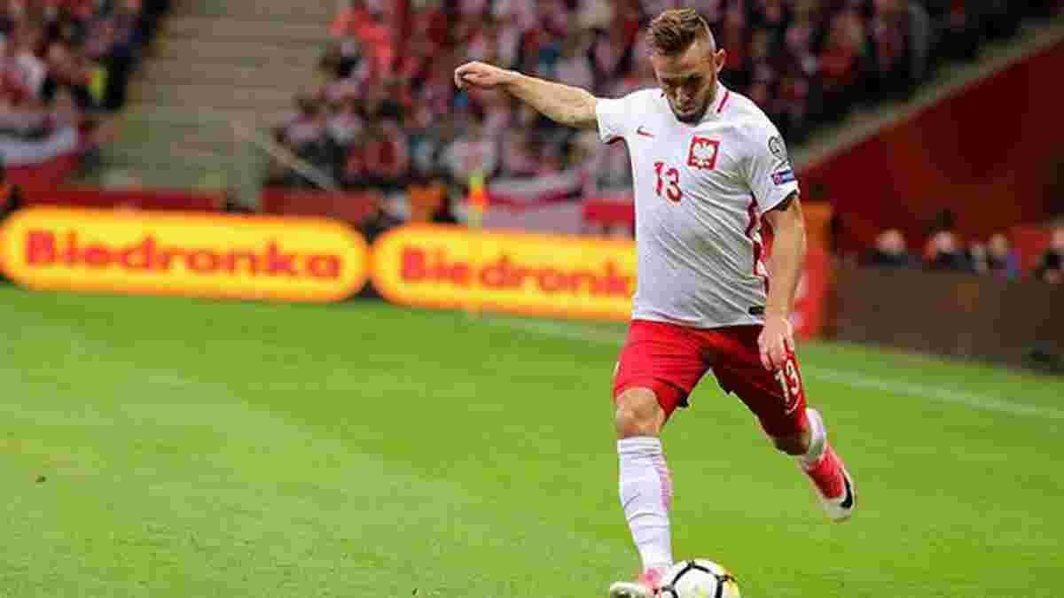 Защитник сборной Польши запугивает Украину перед товарищеским матчем