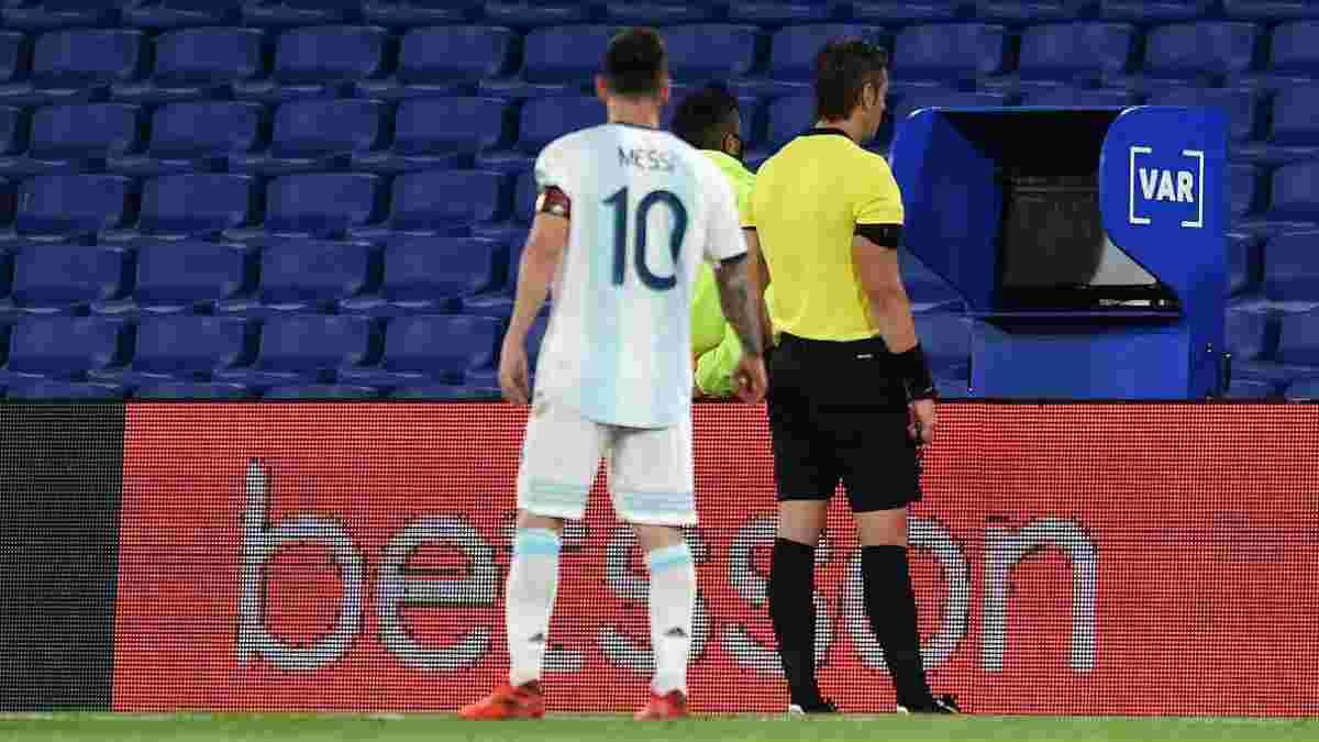 """""""Ви вже двічі нам нас*али"""": Мессі вибухнув після рішення арбітра скасувати гол збірної Аргентини"""