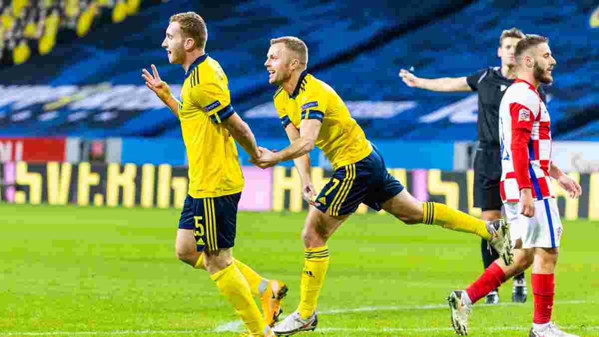 Дебютная красота Кулусевски и оригинальный дубль Даниельссона в видеообзоре матча Швеция – Хорватия – 2:1