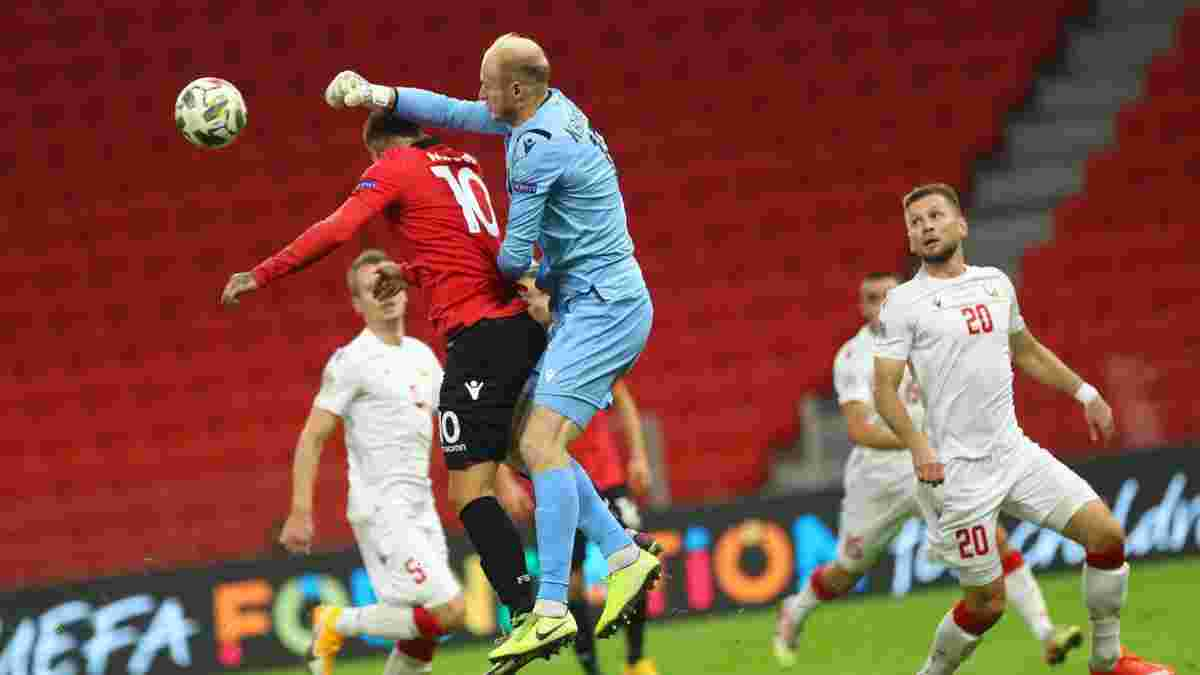Результативная битва за повышение в видеообзоре матча Албания – Беларусь – 3:2