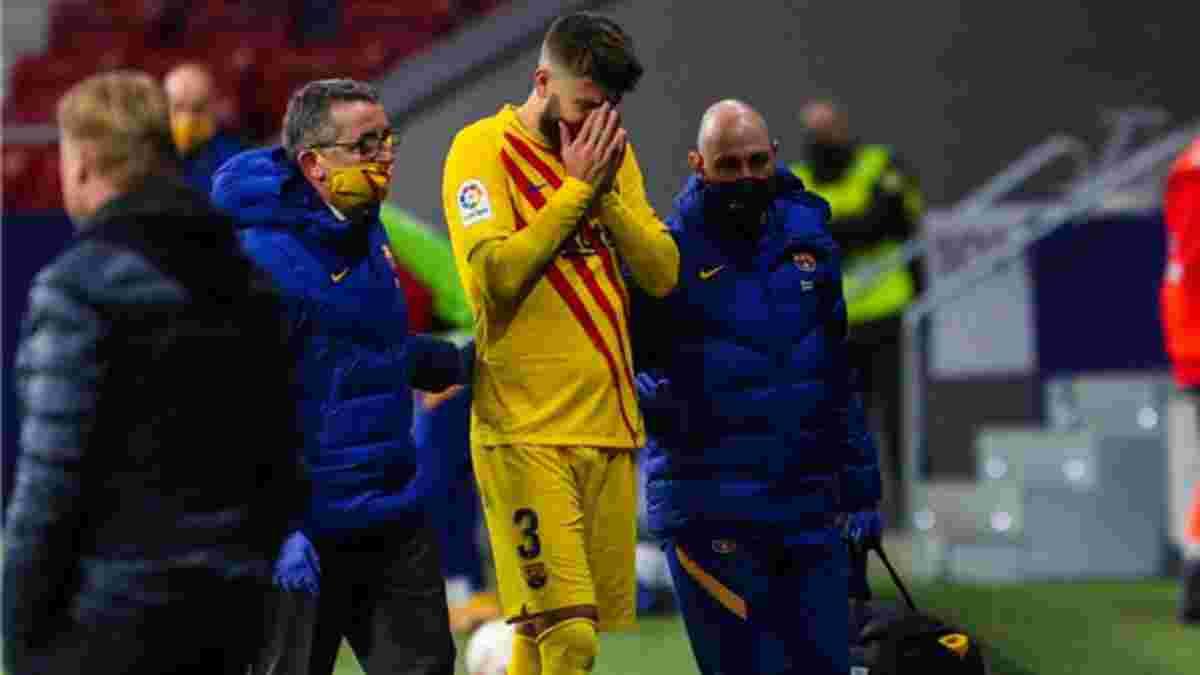 Піке не зіграє проти Динамо, а Серхі Роберто має обмаль шансів – Барселона повідомила деталі травм гравців