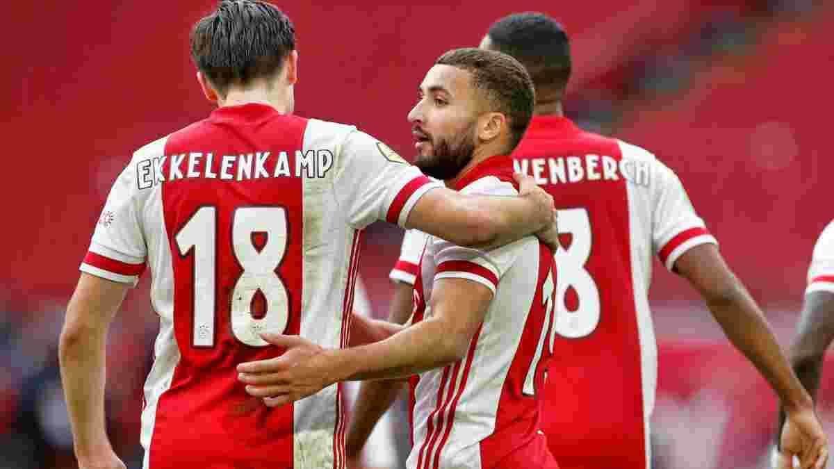 Аякс відвантажив супернику 5 м'ячів та продовжує розривати у Нідерландах – Нерес забив диво-гол гарматним ударом