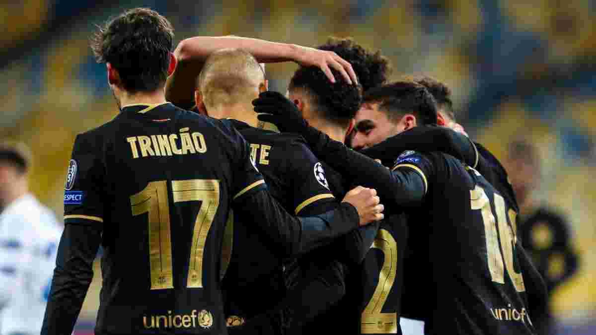 Барселона выставила на матч с Динамо самый молодой состав в ЛЧ за 9 лет