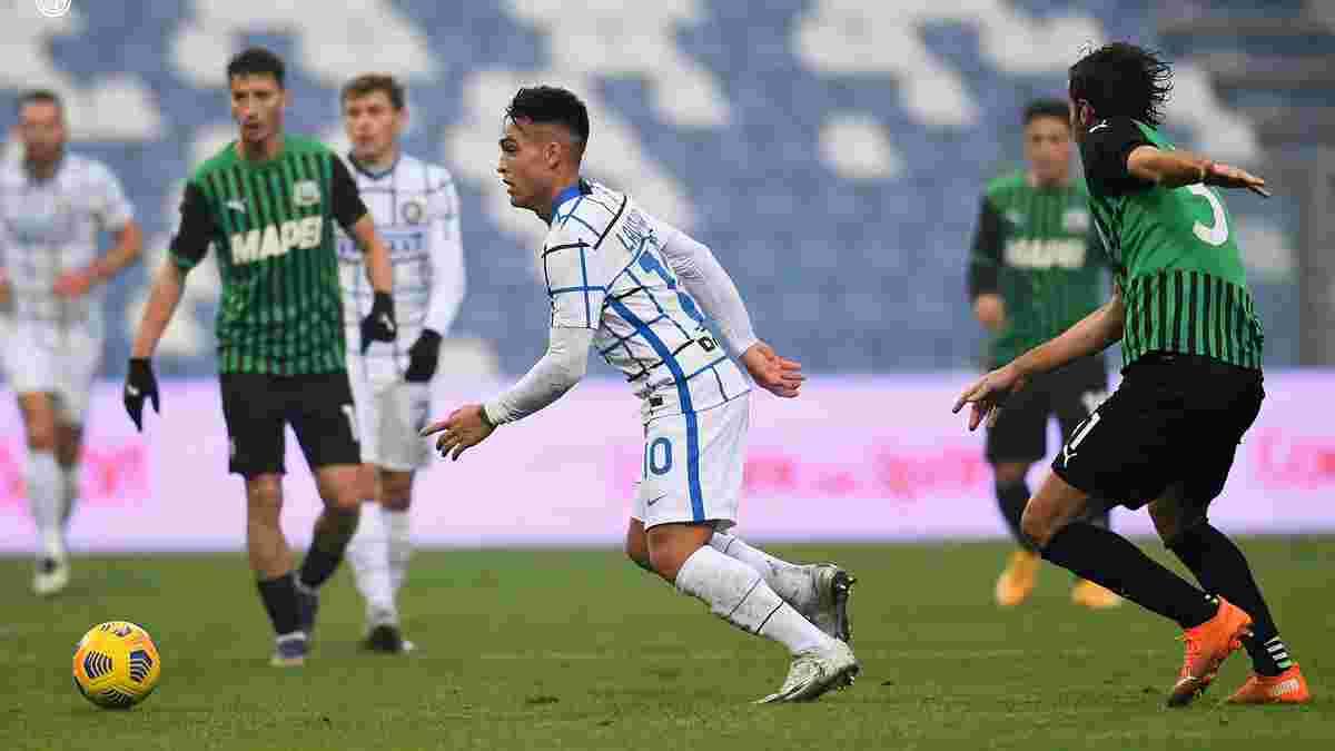 Перша поразка сенсації Серії А у відеоогляд матчу Сассуоло – Інтер – 0:3
