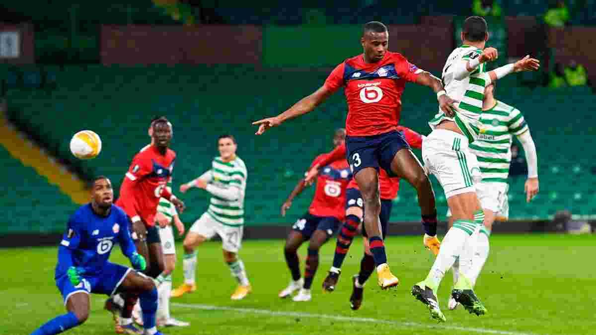 Гольова феєрія та перший єврокубковий м'яч Веа-молодшого у відеоогляді матчу Селтік – Лілль