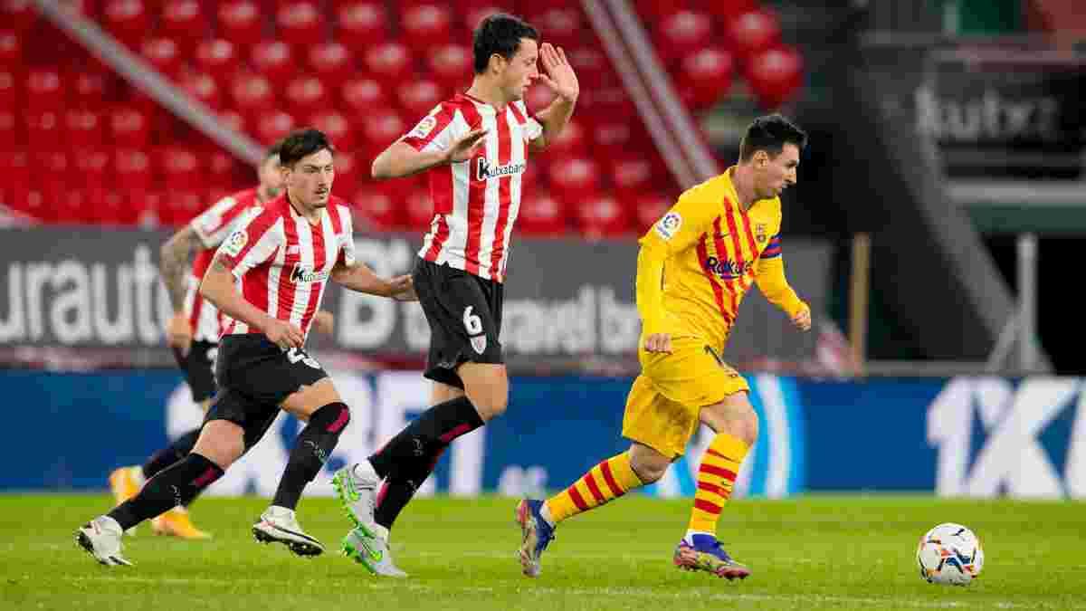Гойдалки Більбао у відеоогляді матчу Атлетік – Барселона – 2:3