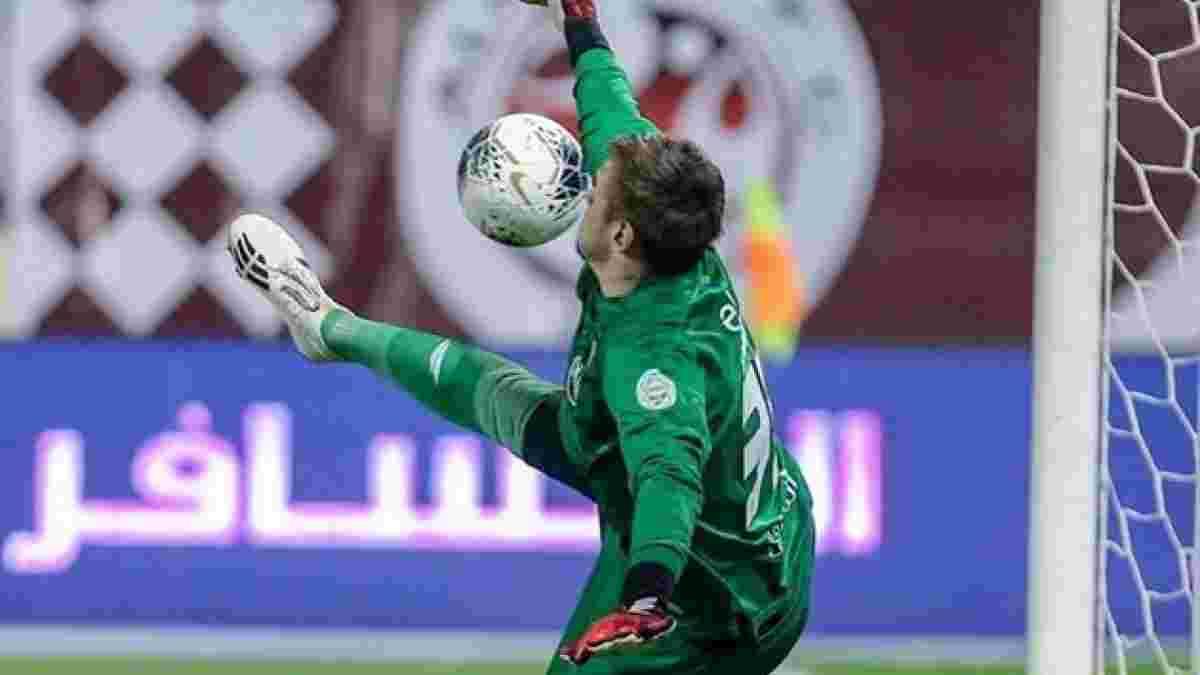 Коваль пропустил курьезный гол в Саудовской Аравии – почти копия знаменитого удара Роналдиньо в ворота Англии