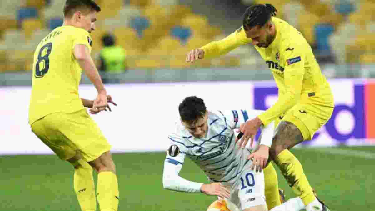 Динамо – Вільяреал: InStat визначив найкращого гравця киян у матчі Ліги Європи