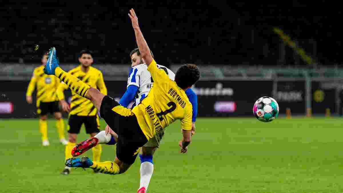 Епічний фейл голкіпера та звірячий фол проти Ройса у відеоогляді матчу Борусія Д – Герта – 2:0