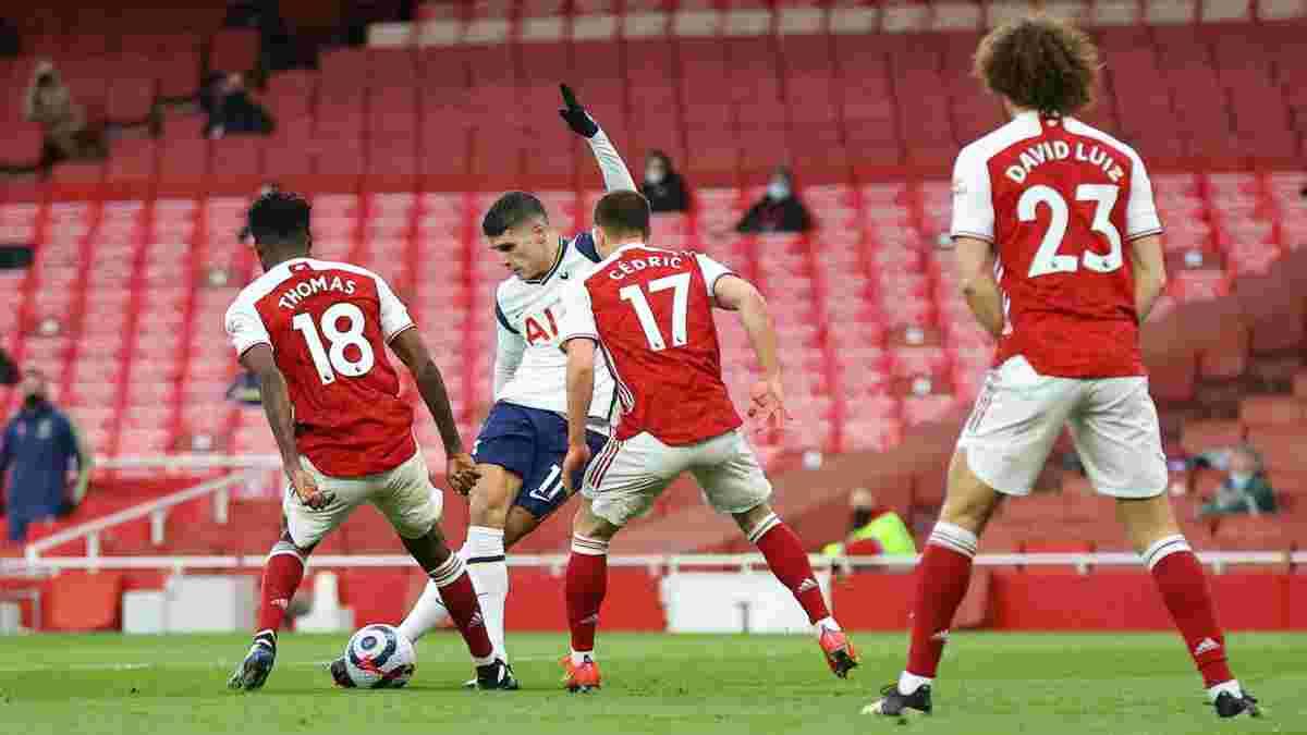 Арсенал здолав Тоттенхем у драматичному дербі – Ламела забив диво-гол рабоною і був вилучений