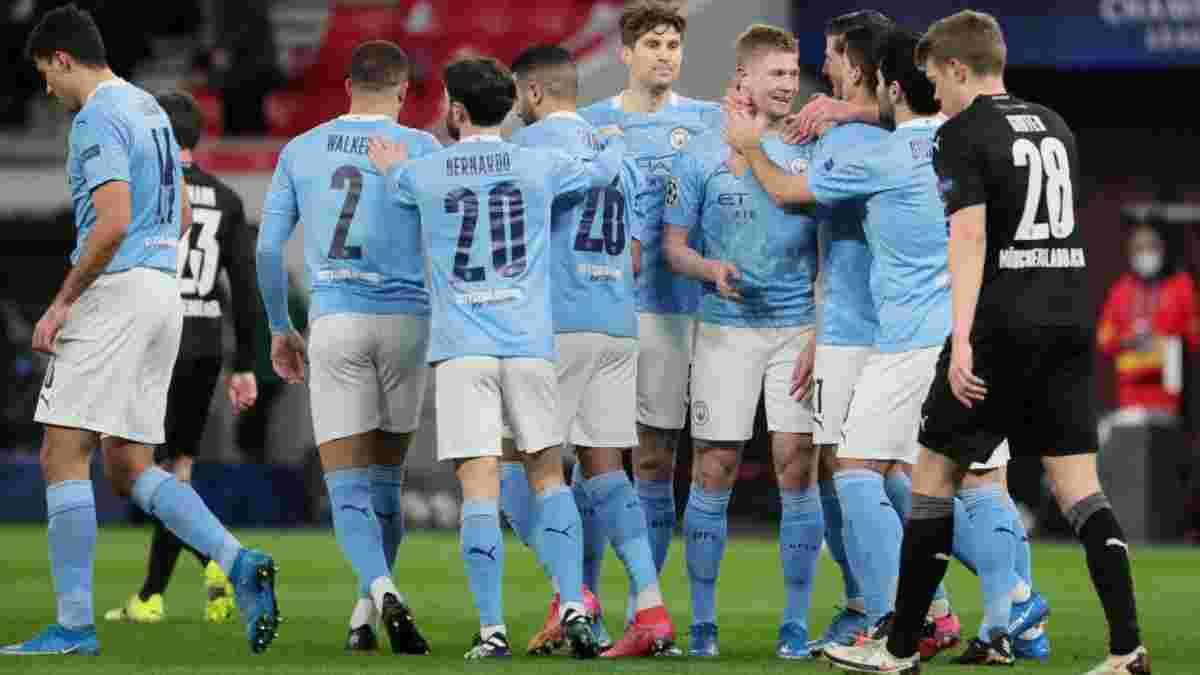 Зинченко – в четвертьфинале Лиги чемпионов! Манчестер Сити победил Боруссию М, забив пару красивых голов